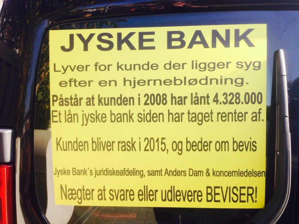 Do we have reason to believe the Jyske Bank Group has paid bribes to Lundgren's lawyers ?.