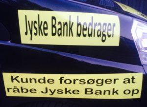 Faktisk gider vi slet ikke denne kamp imod jyske bank  Ville hellere lave noget mere morsomt, men det er jo en folk kriminelle bestyrelses medlemmer vi er oppe i mod, og de danner ramme for selve fundamentet i jyske bank.  Og forståelsen af bankens vedtægter om at drive en redelig bankvirksomhed   -  Vedtægter  § 1 Stk. 1: Bankens navn er Jyske Bank A/S.   Stk. 4: Bankens formål er som bank og som moderselskab at drive bankvirksomhed efter lovgivningen   Stk. 5: Banken drives i overensstemmelse med redelig forretningsskik, god bankpraksis og bankens værdier og holdninger  :-) :-)  ER DANSKE BANK 'ER IKKE TIL AT STOLE PÅ !  :-)   DET ENSTE VI ØNSKER ER DIALOG  OG ET MØDE MED JYSKE BANK.  SOM SKREVET RIGTIG MANGE GANGE FØR, VIL VI GERNE HAVE LIVET JYSKE BANK STJÆLER TILBAGE.  :-)  LAD OS NU MØDES   HAR JO SAGT AT HAR JYSKE BANK RET, SÅ BETALER VI GERNE, I BEHØVER IKKE UDSÆTTE OS FOR DETTE VANDVID AF ONDSKAB  :-)  ØNSKER BARE AT MØDES MED JERES LEDER CEO ANDERS CHRISTIAN DAM  Dette er ikke lykkes at få noget møde i stand, da jyske bank nægter, og ønsker fortsat at vil bedrage os, og i retten vil forsøge at stikke bankens glødende smøg i såret efter 10 års totur.  :-)  Anders Dam og jer andre se opslag som humor og husk SMS 22227713 er til for dialog og at undgå misforståelser.  :-)  VI NÆRMER OS HOVEDFORHANDLING  DU ER OGSÅ VELKOMMEN  HØR KUNDE FORKLARE I RETTEN  HVORDAN JYSKE BANK UHÆDERLIGT  OG BEVIDST HAR BEDRAGET KUNDER I JYSKE BANK IGENNEM 10 ÅR.  :-(  OG HØR BESTYRELSES MEDLEMMET PHILIP BARUCH FOR JYSKE BANK FORKLARE SIG, PÅ BESTYRELSENS OG LUND ELMER SANDAGERS VEJNE   :-)  Dertil kommer de vidner kunde før har nævnt   :-) :-)  Imens alle ansatte i jyske bank sikkert bare griner af foragt, over for den dumme kunde banken bedrager, men kunden kæmper alligevel fortsat imod gigant svindel banken fra Jylland   :-(  Jyske bank forsøger at bedrage kunde i 20 år, en stensikker plan tænker Anders Dam nok  Hvem støtter og dækker over Jyske Banks bedrageri imod erhvervs ku